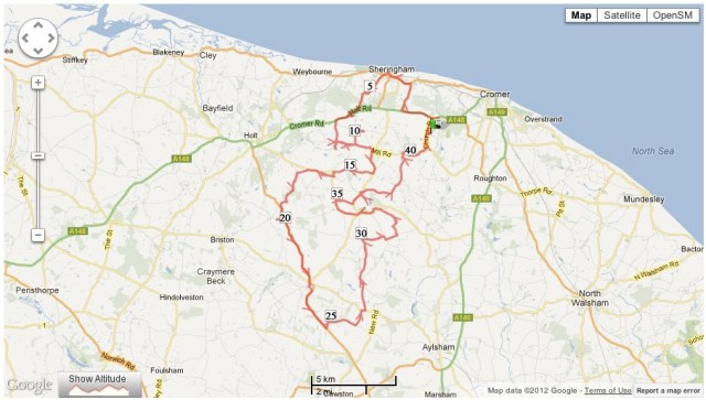 Norfolk Churches 2 cycle route no.2594602 - Mapometer.com UK